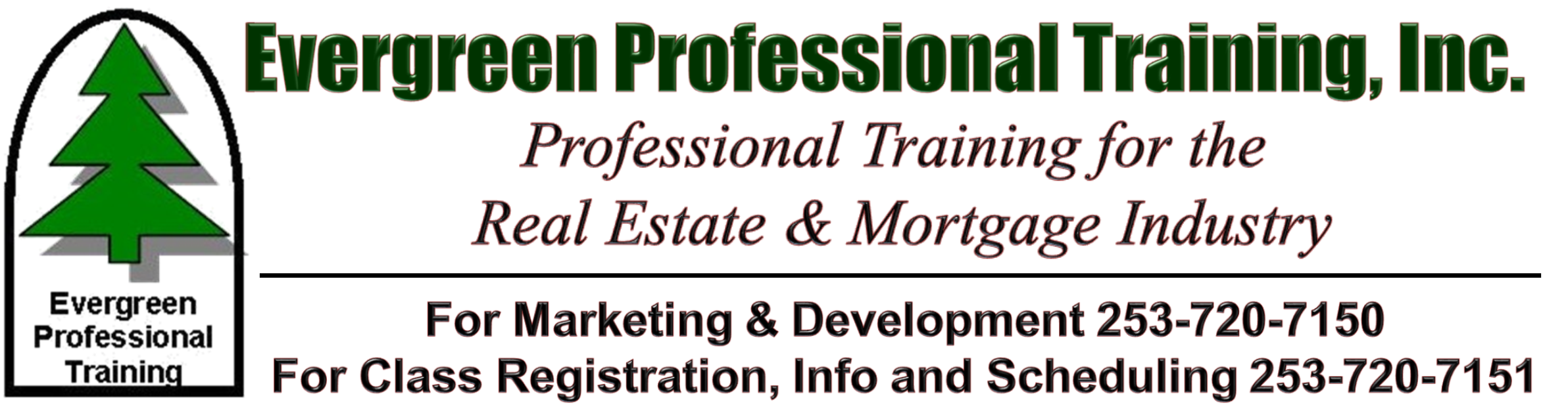 Evergreen Professional Training, Inc. | Real Estate Clock Hour School | Real Estate Training, Continuing Education, Washington State Clock Hour School