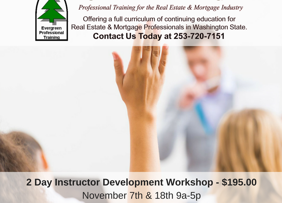 Become a Certified Real Estate Instructor